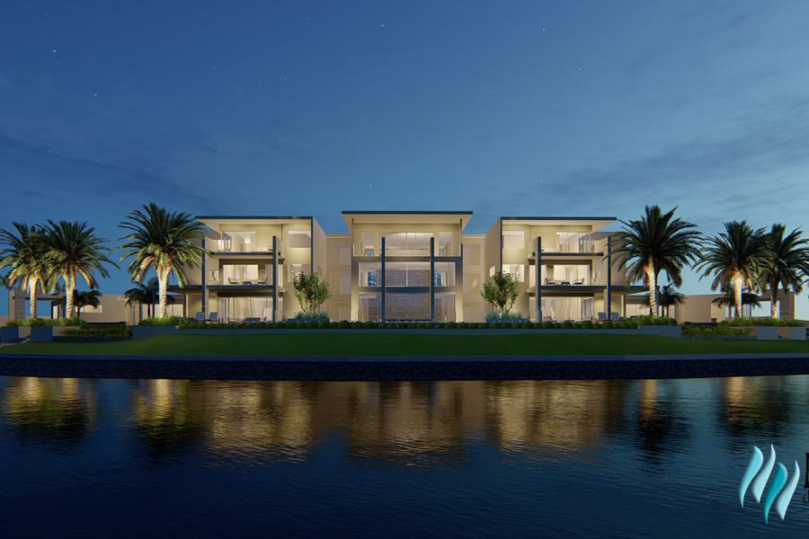 Hope Island Mansion House, Gold Coast - Rear - Night Time